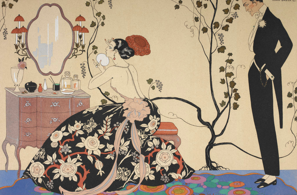 Detail of Le grand décolletage by George Barbier