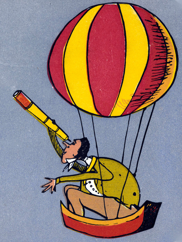 Detail of Balloon Man by Edward Lear