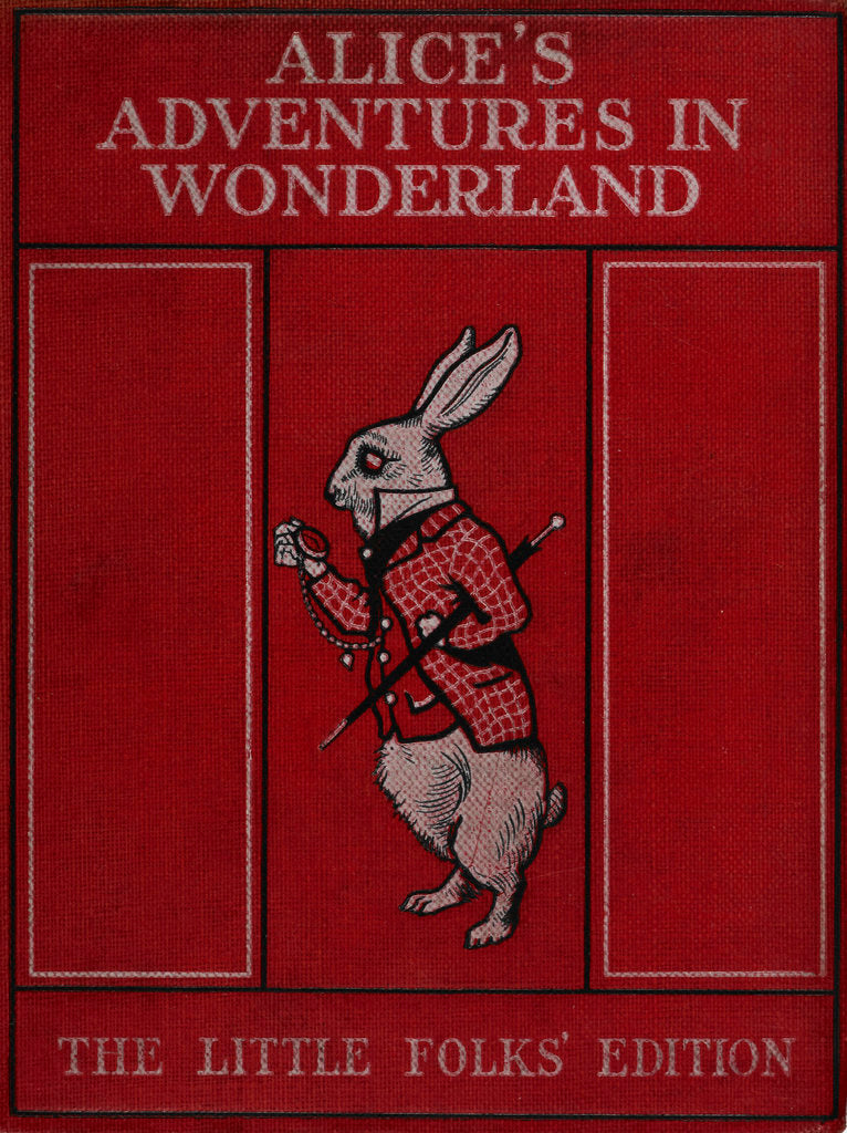 Detail of Alice in Wonderland book cover by Sir John Tenniel