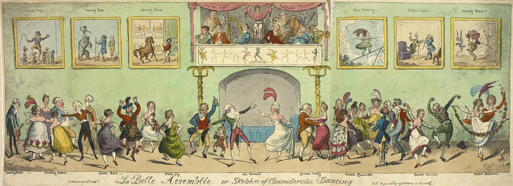 Detail of Sketches of characteristic dancing by George Cruikshank