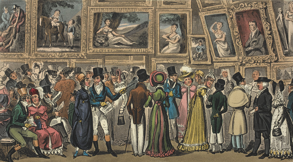 Detail of Tom and Jerry at an exhibition by George Cruikshank