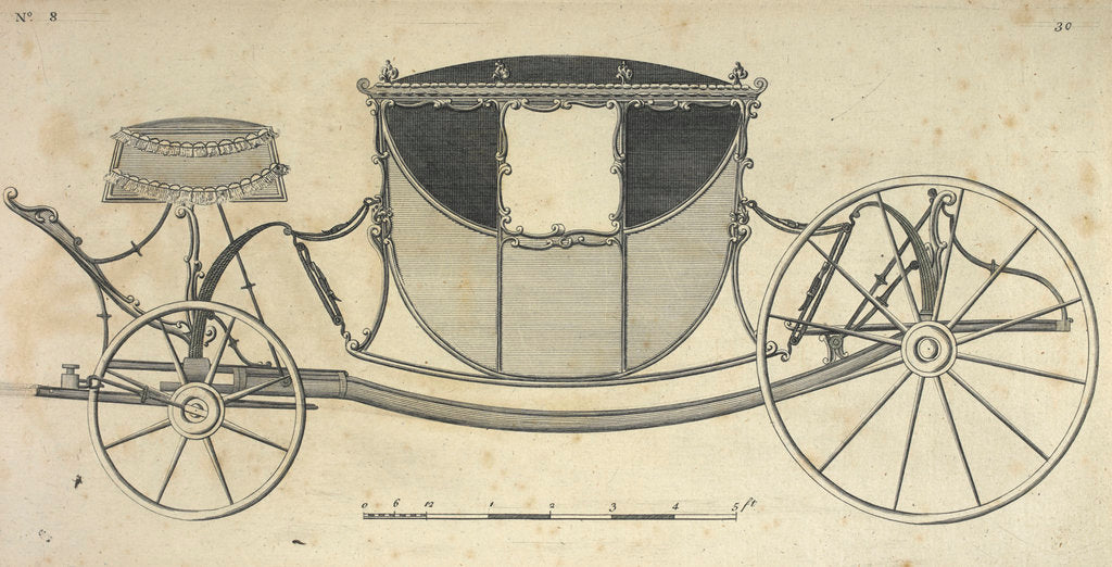 Detail of A carriage by Anonymous
