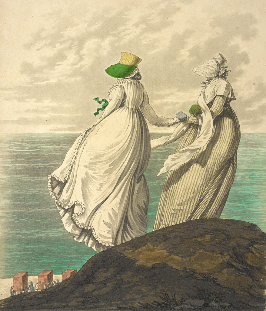 Detail of Two ladies by the sea by Anonymous