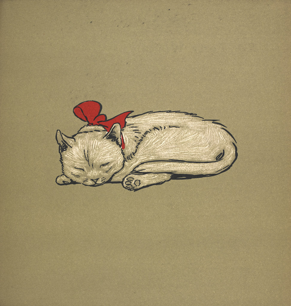 Detail of Kitten taking a nap by Cecil Aldin