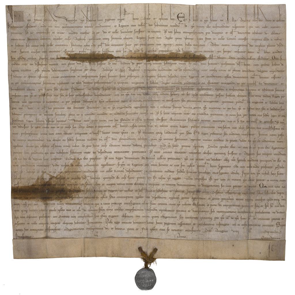 Detail of The papal bull annulling Magna Carta by Anonymous