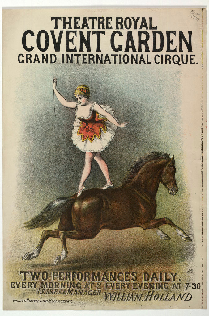 Detail of Grand International Cirque at the Theatre Royal by Anonymous