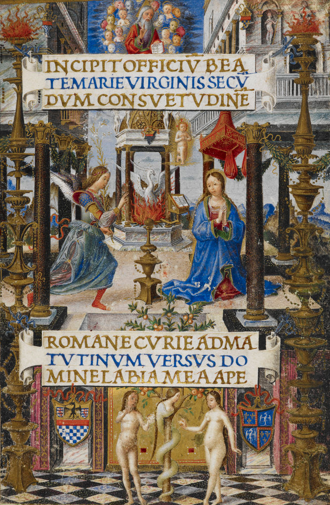 Detail of The Annunciation to the Virgin (Mirandola Hours) by Anonymous