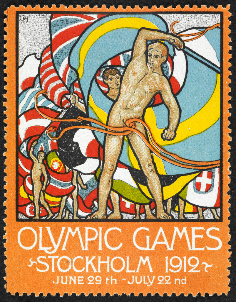 Detail of Olympic Games Stockholm 1912 by Anonymous