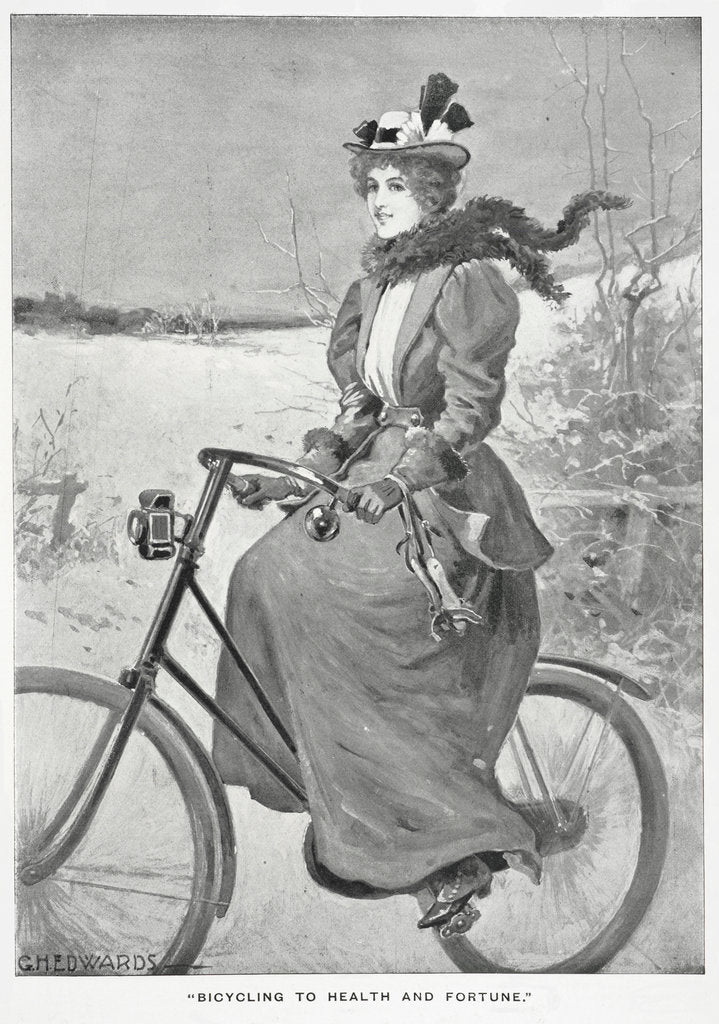 Detail of Bicycling to health and fortune by G H Edwards