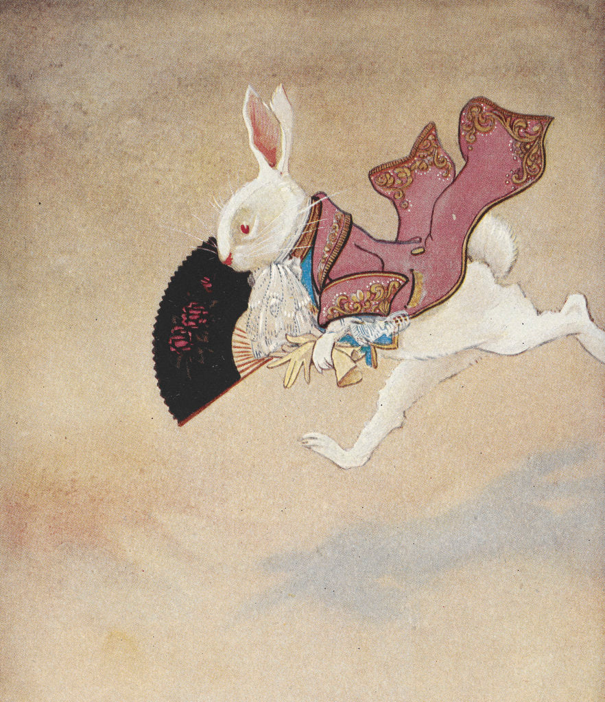 Detail of White Rabbit by Gwynedd M Hudson