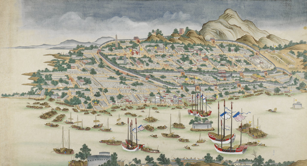 Detail of A view of Guangzhou (Canton) by Anonymous