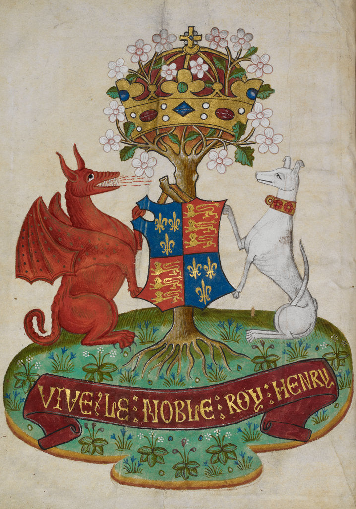 Detail of Arms of Henry VII by Anonymous