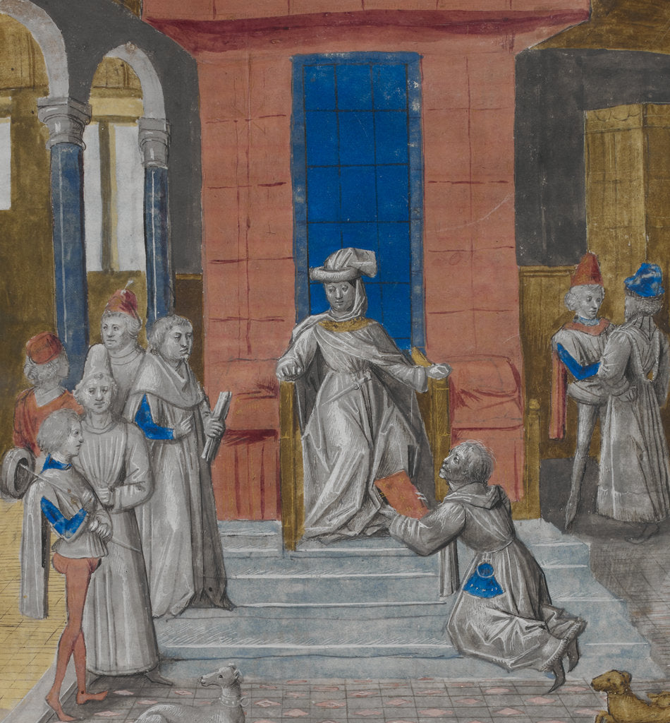 Charles the Bold receiving Vasco da Lucena's text by Anonymous