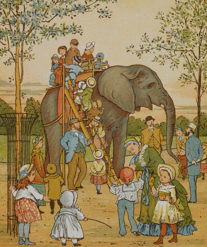 Detail of The elephant ride by Thomas Crane