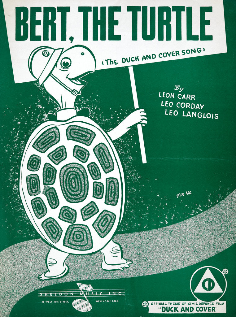 Detail of Bert, the Turtle: The Duck and Cover Song by Anonymous