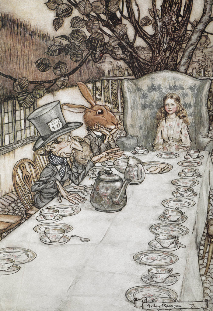 Detail of Alice at the tea party by Arthur Rackham