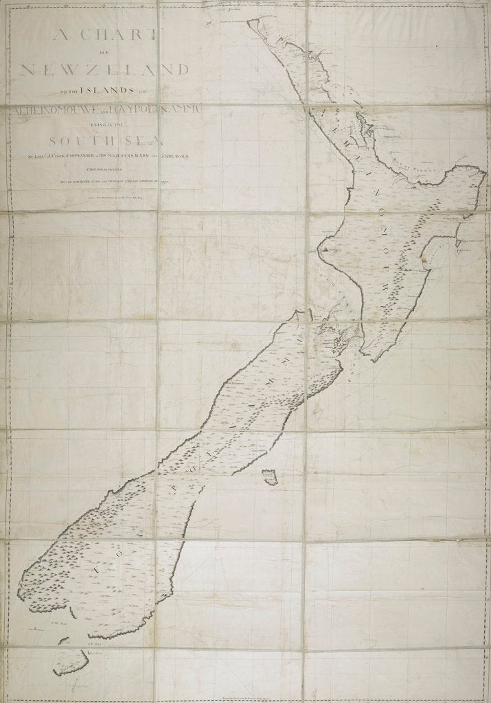 Detail of A chart of New Zealand by James Cook