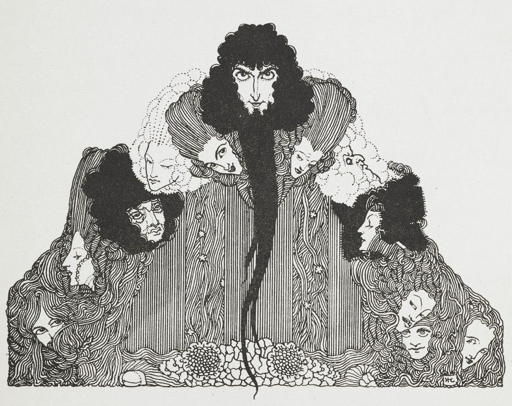 Detail of Bluebeard by Harry Clarke