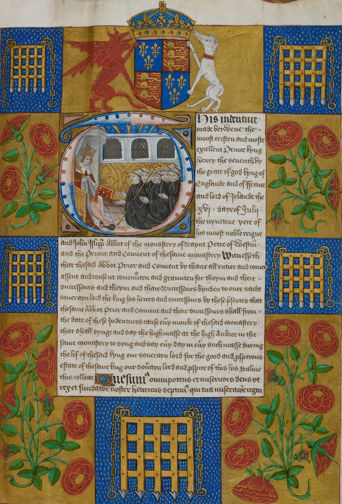 Detail of Quadripartite Indenture by Anonymous