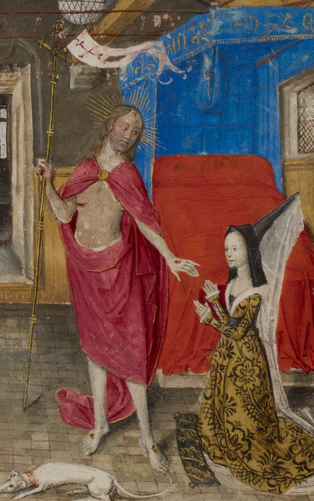 Detail of Margaret of York in dialogue with the Resurrected Christ by Anonymous