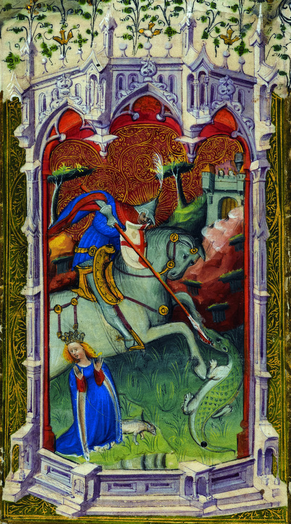 Detail of Saint George by Associate of the Beaufort Saints Master