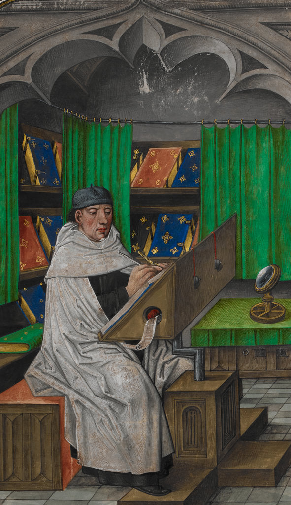 Detail of Vincent de Beauvais at work in his study by Anonymous