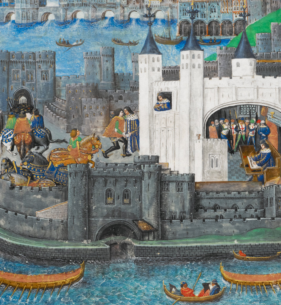 Detail of Charles of Orléans in the Tower of London by Anonymous