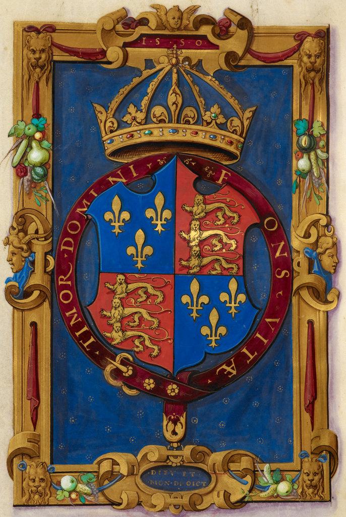 Detail of Arms of Edward VI by Anonymous