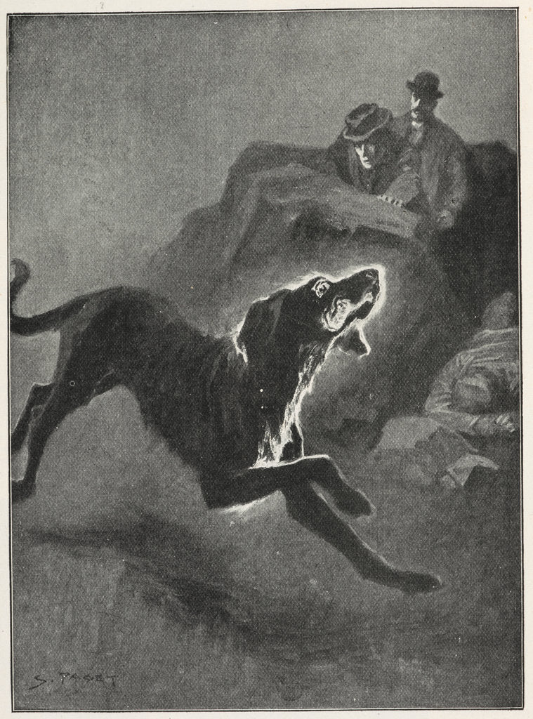Detail of The Hound of the Baskervilles by Sidney Paget