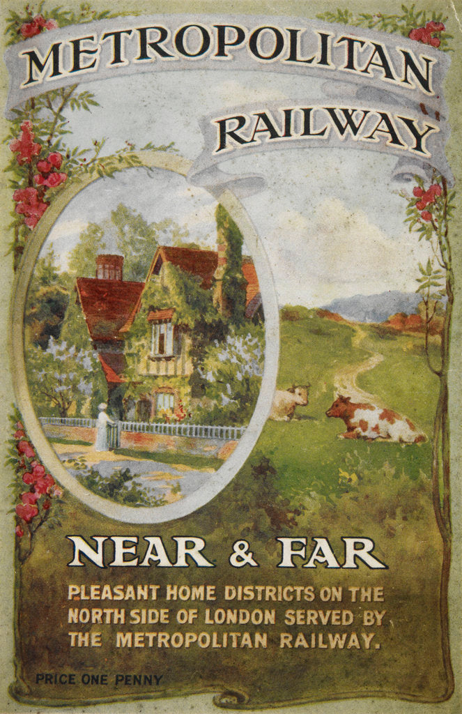 Detail of Metropolitan Railway: Near and Far by Anonymous
