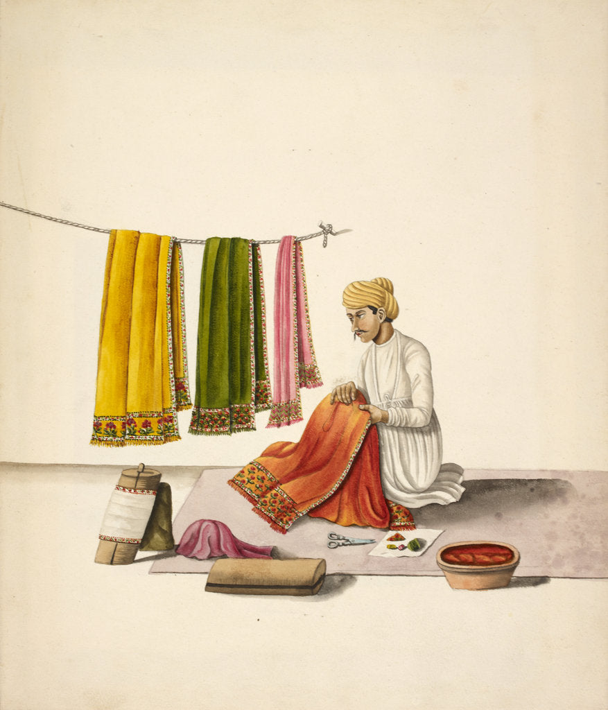 Detail of Shawl embroiderer by Anonymous