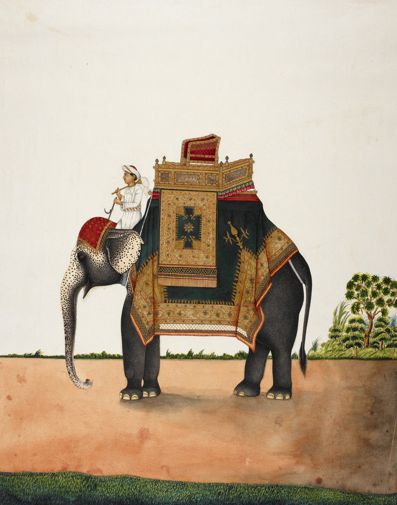 Detail of An elephant bearing a howdah by Anonymous