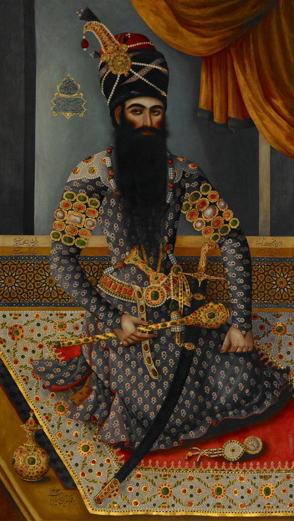 Detail of Fath 'Ali Shah King of Persia 1797-1834 by Mirza Baba
