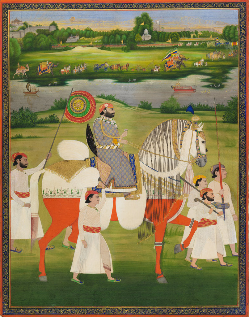 Detail of Maharaja Mohkam Singh of Kishangarh by Anonymous