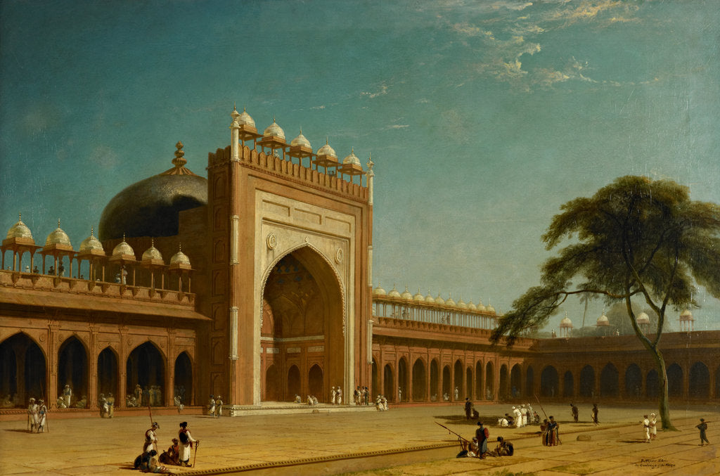 Detail of Quadrangle of the Jami Masjid, Fatehpur Sikri by William Daniell
