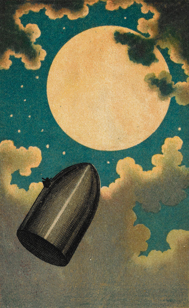 Detail of The Moon Voyage by Emile Antoine Bayard