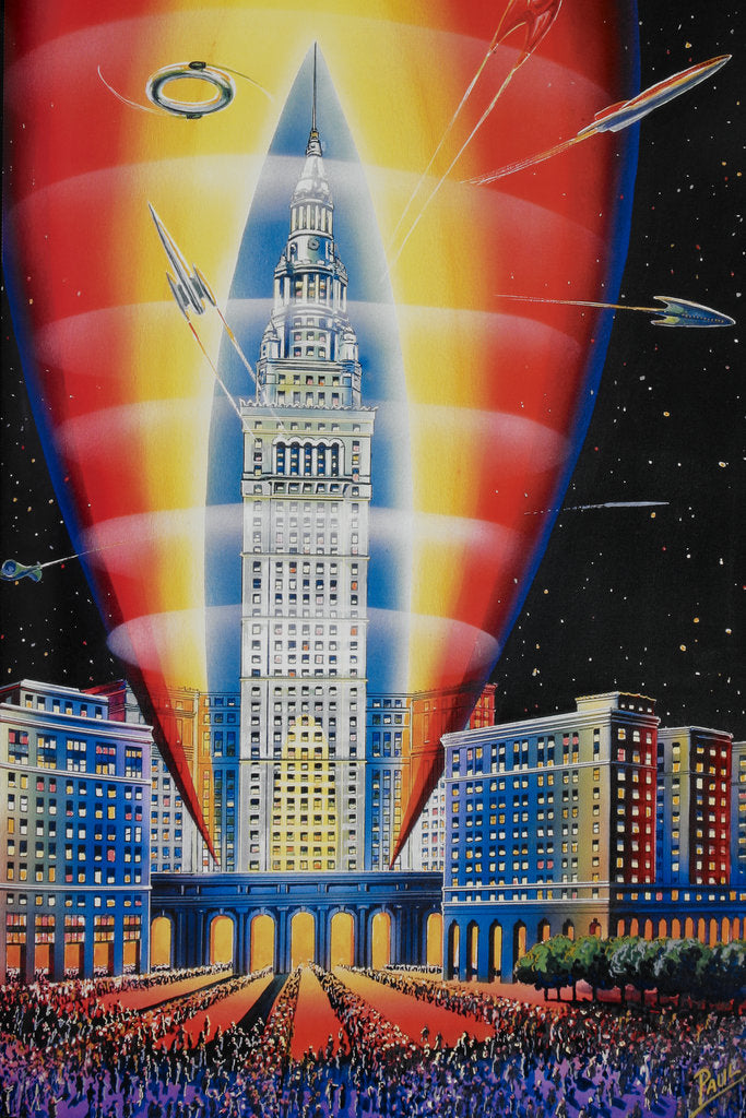 Detail of The Rocket Building by Frank R Paul