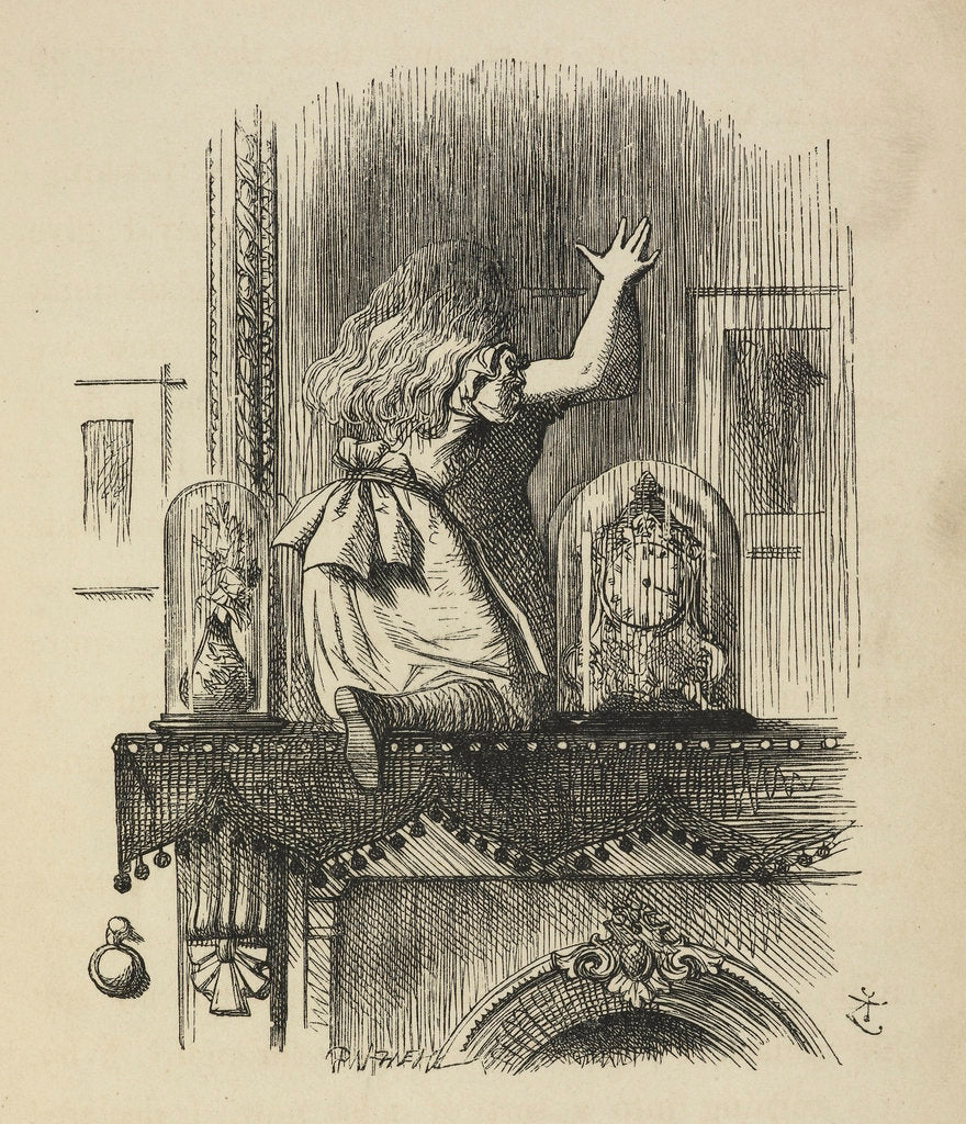 Detail of Through the looking-glass, and what Alice found there by John Tenniel