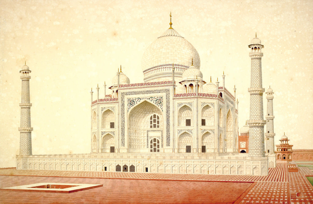Detail of Taj Mahal by Anonymous