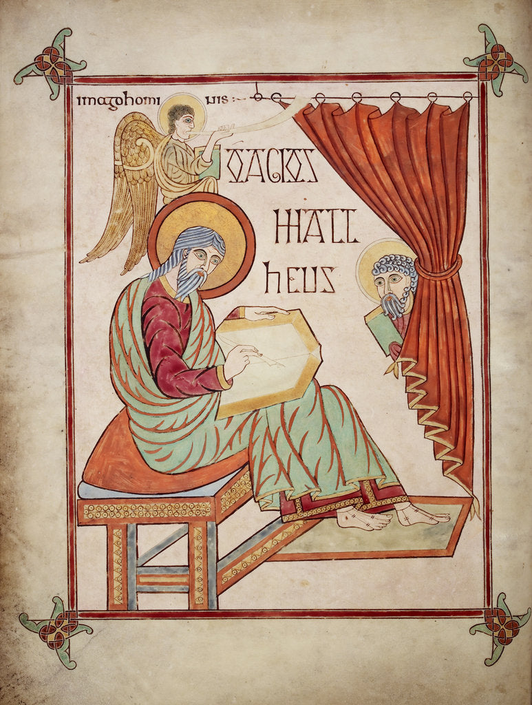 St Matthew in the Lindisfarne Gospels by Eadfrith