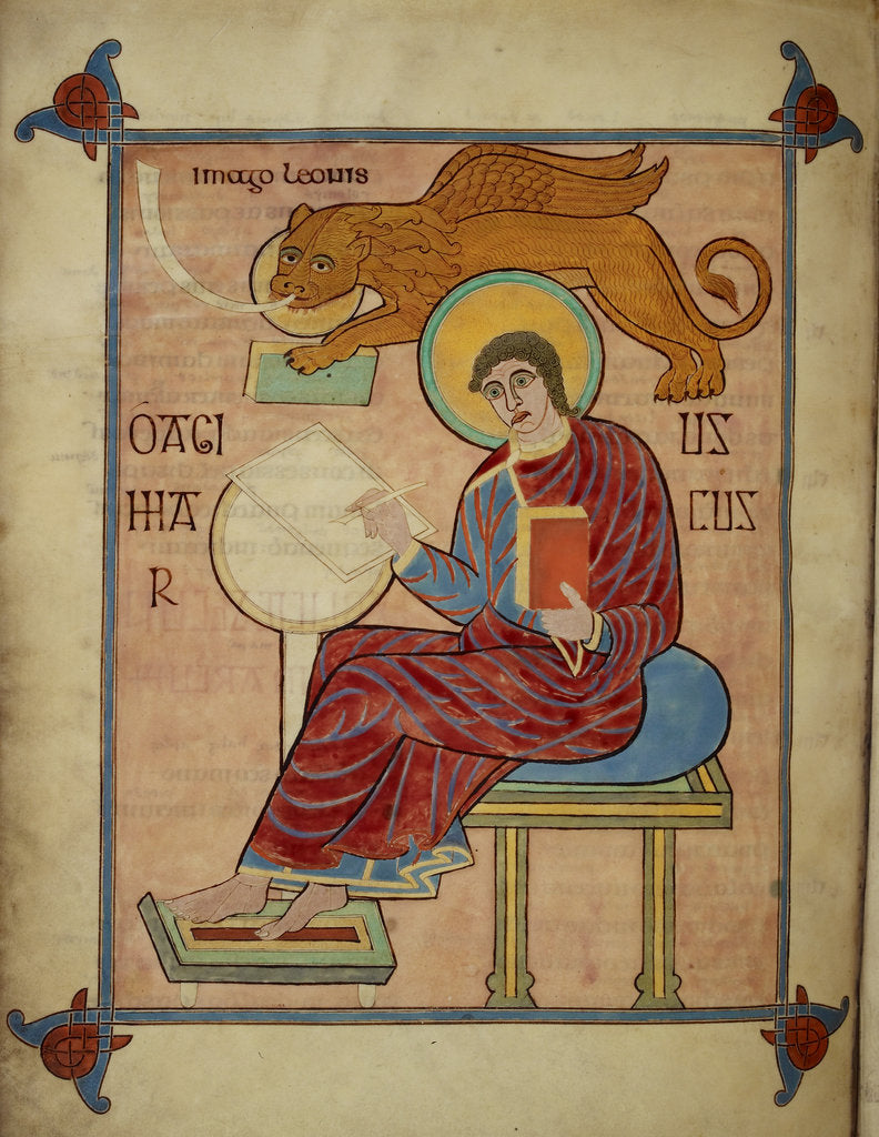 Detail of St Mark in the Lindisfarne Gospels by Eadfrith