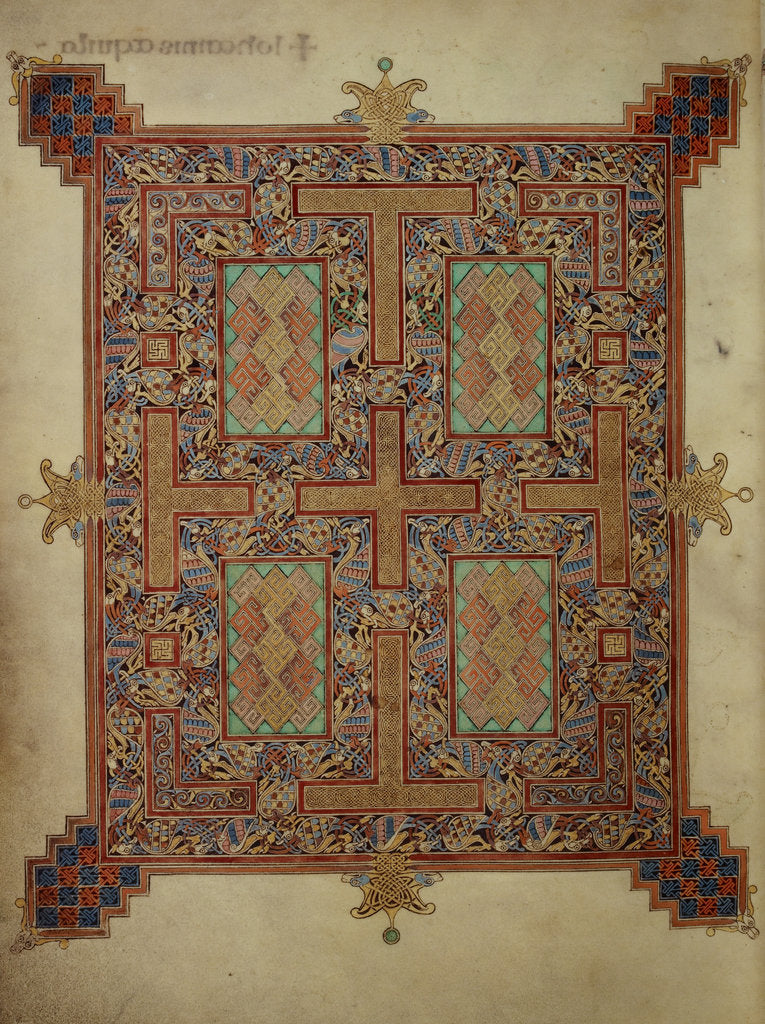 Detail of Carpet page from the Lindisfarne Gospels by Eadfrith