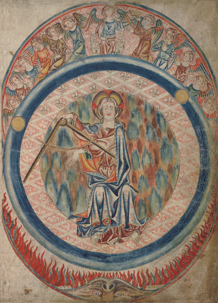 Detail of God the Creator in the Holkham Bible by Anonymous