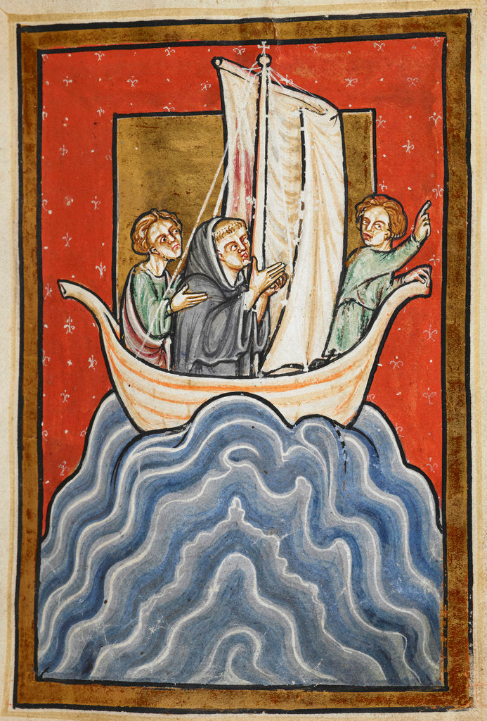 Detail of St. Cuthbert sailing to the land of the Picts by Anonymous