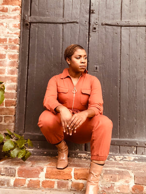 Rusty Utility Jumpsuit