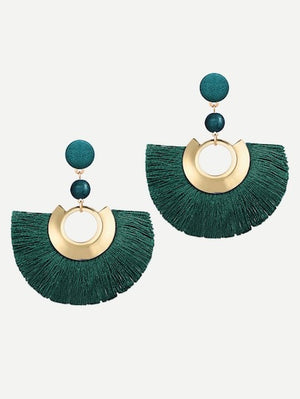 Hunter Green Tassel