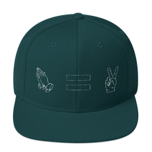 Prayer = Peace Snapback Hat