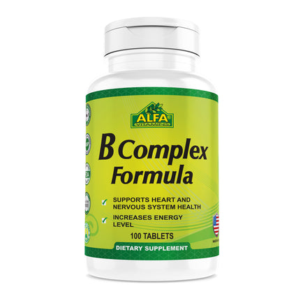 B-Complex Plus Vitamin C - 100 tablets