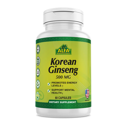 Korean Ginseng 500 mg - 60 capsules