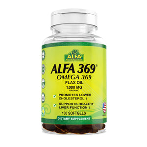Alfa 369 - Omega 369 - Organic Flax Oil 1000 mg - 100 softs